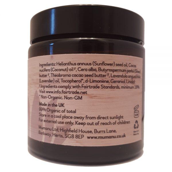 mumanu-organic-fairtrade-lavender-massage-balm-120g-indredients