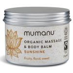 Organic Fairtrade Massage and Body Balm - Sunshine Blend