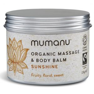 Organic Fairtrade Massage Balm and Body Balm - Sunshine Blend