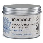mumanu organic fairtrade Vanilla Balm Massage Balm Body Balm