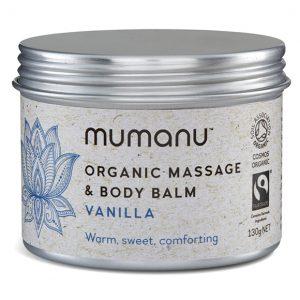 mumanu organic fairtrade Vanilla Balm Massage Balm Body Balm