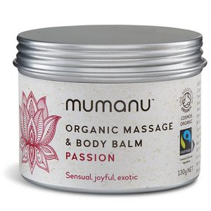 Mumanu Organic Massage Oil & Body Balm - Passion - With Ylang Ylang Oil