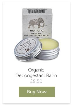 Mumanu Organic Decongestant Balm With Fairtrade Ingredients - Buy Now
